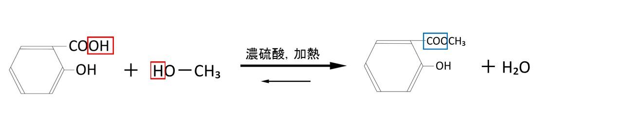 サリチル酸のエステル化