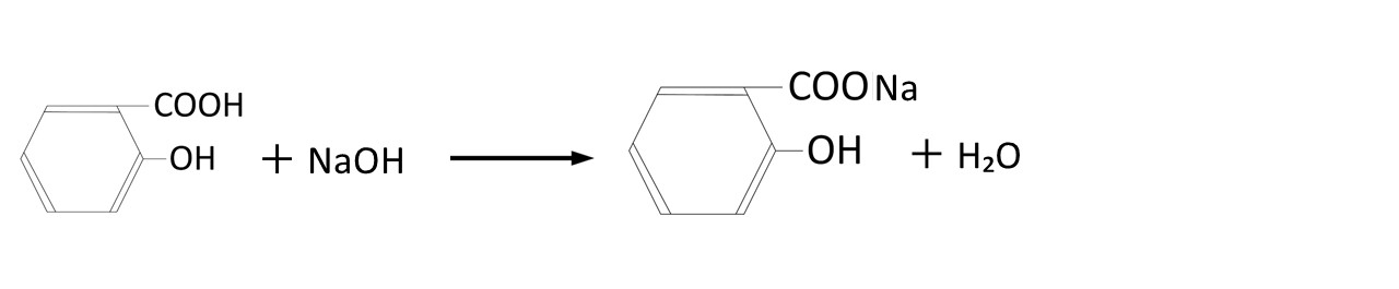 サリチル酸の中和反応