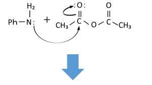 アセトアニリドの反応機構①