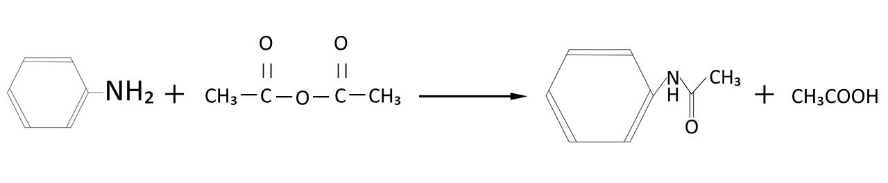 アセトアニリドの合成式
