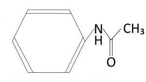 アセトアニリドの構造式